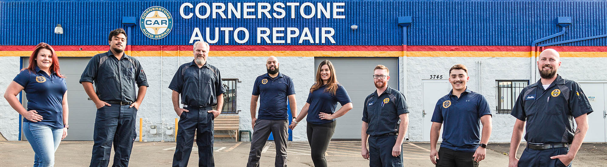 The whole team at Cornerstone Auto repair is ready to serve you